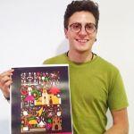 El bullero Antonio Amor Muñoz anuncia con su cartel las Fiestas Patronales de Bullas