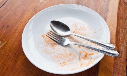 No os dejéis nada en el plato