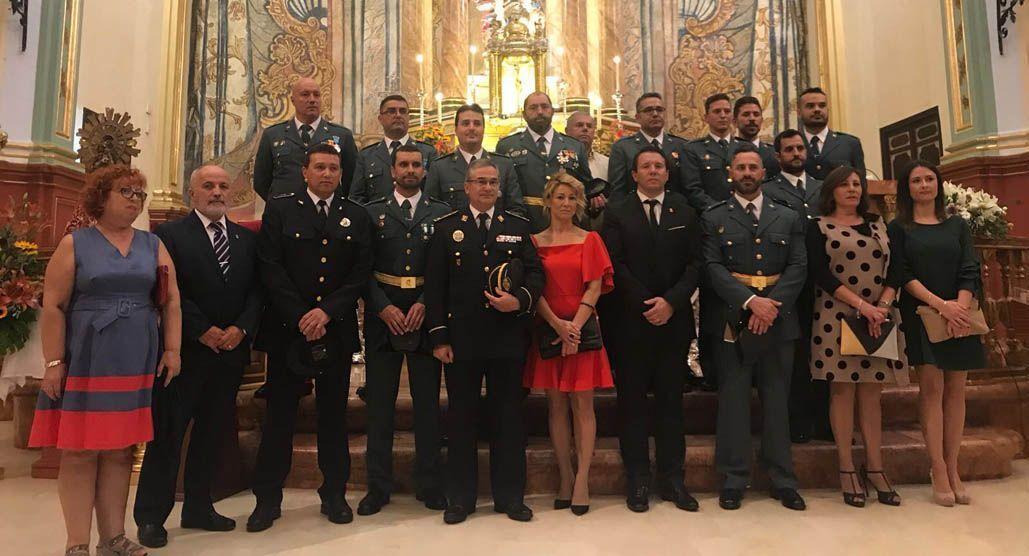 Acto en Mula con motivo de la Virgen del Pilar, Patrona de la Guardia Civil