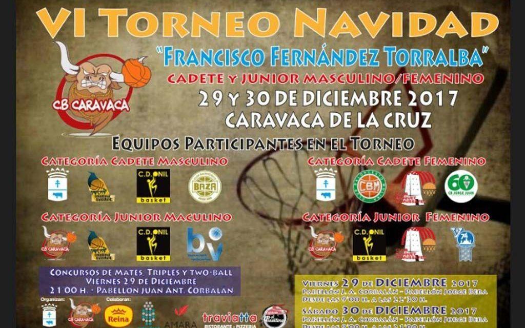 El VI Torneo de Navidad 'Francisco Fernández Torralba' reúne a 16 de equipos de Baloncesto de Andalucía, Murcia, Valencia y Castilla la Mancha