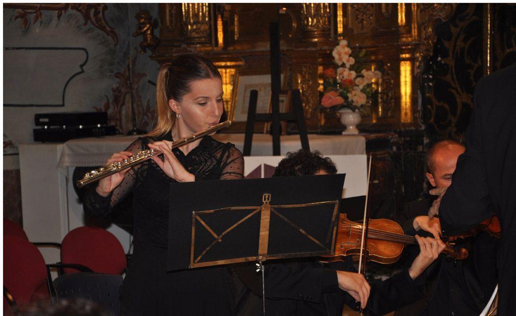 La flautista María Dolores Valverde
