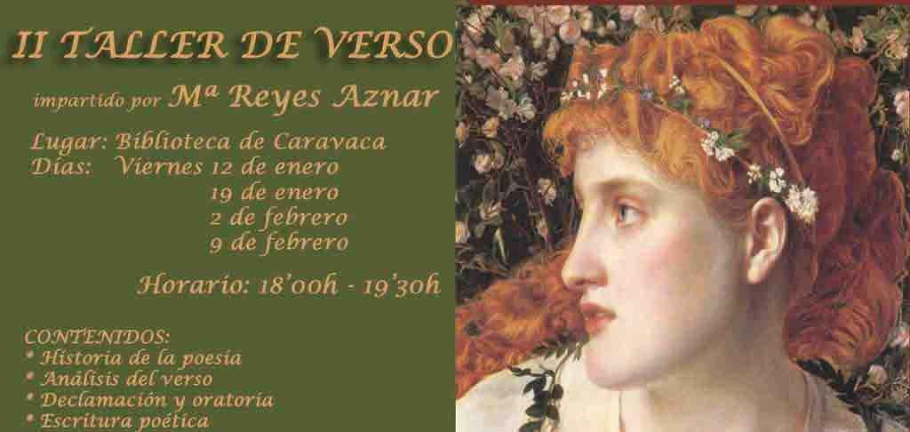 II Taller de verso en la Casa de la Cultura de Caravaca a partir del 12 de enero