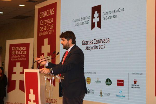 Fernando López Miras, acto Gracias Caravaca