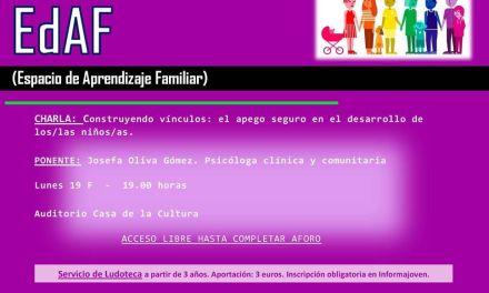 Este lunes dará comienzo la Escuela de Aprendizaje Familiar en Bullas con una charla de Josefa Oliva Gómez