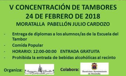 Este sábado se celebra la V Concentración de Tambores de Moratalla
