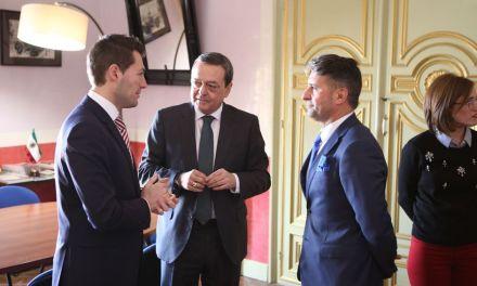 El Presidente de la CROEM, José María Albarracín, visita Cehegín