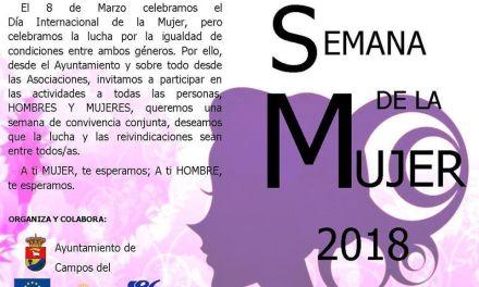 Campos del Río comienza el lunes La Semana de la Mujer para conmemorar el día 8 de Marzo
