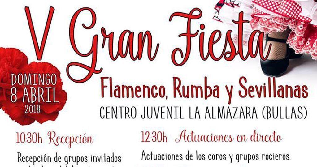 El domingo se celebra en Bullas la V Gran Fiesta del flamenco, rumba y sevillanas