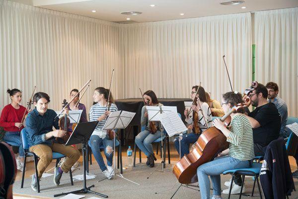 Ensayo de la Orquesta de Cámara del Noroeste