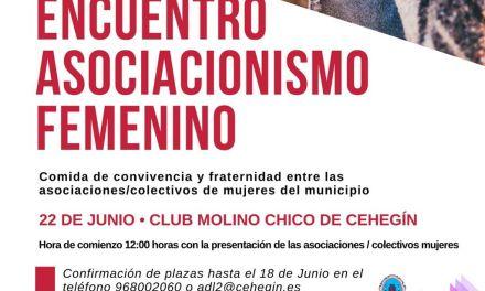 Cehegín celebrará su primer Encuentro de Asociacionismo Femenino el próximo 22 de junio