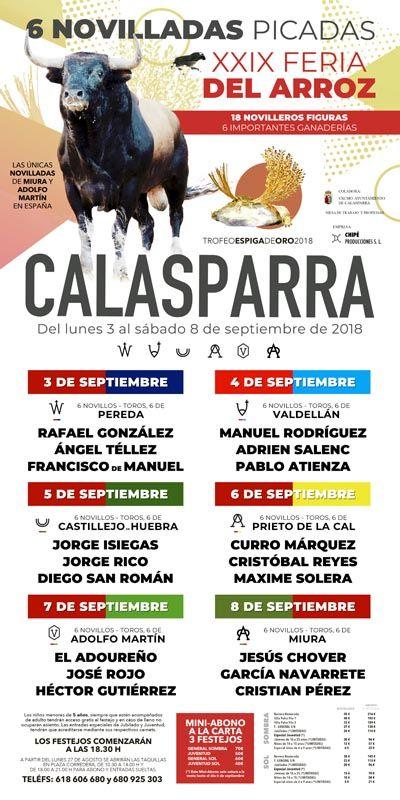 Los mejores novilleros, en la XXIX Feria del Arroz de Calasparra