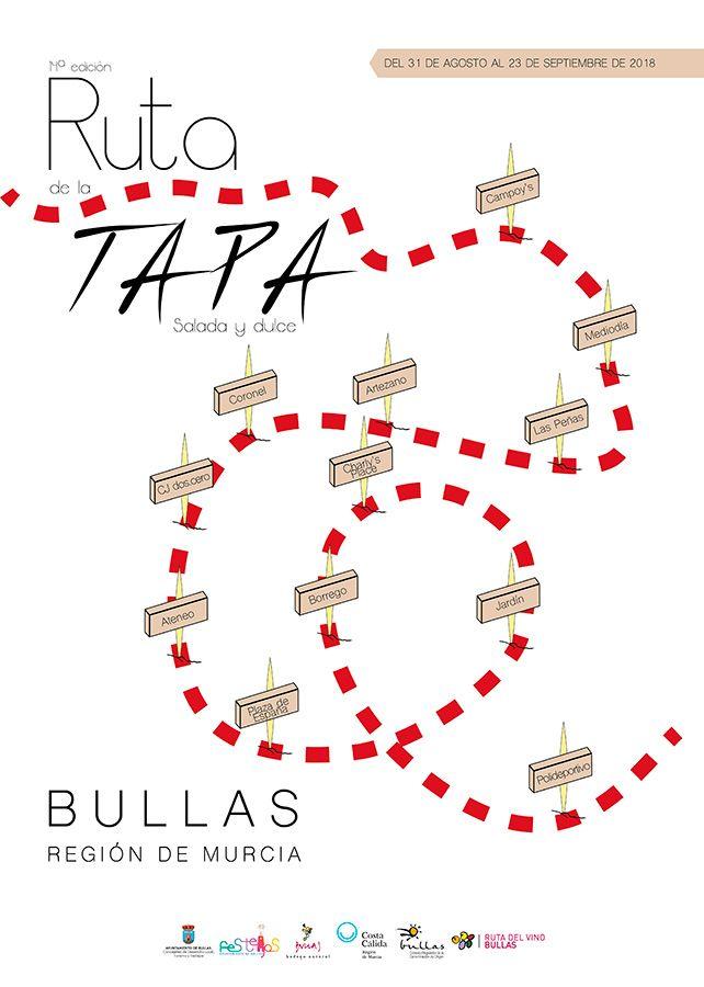 Cartel Ruta de la Tapa Bullas 2018