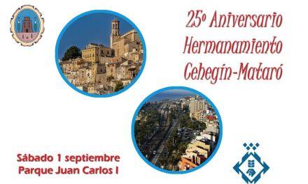 Cehegín y Mataró conmemorarán el 25 aniversario de su Hermanamiento el 1 de septiembre
