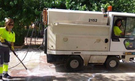 El Ayuntamiento de Caravaca lleva a cabo actuaciones de limpieza y reparación en distintos espacios del municipio