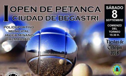 El primer Open de Petanca 'Ciudad de Begastri' se disputará el 8 de septiembre