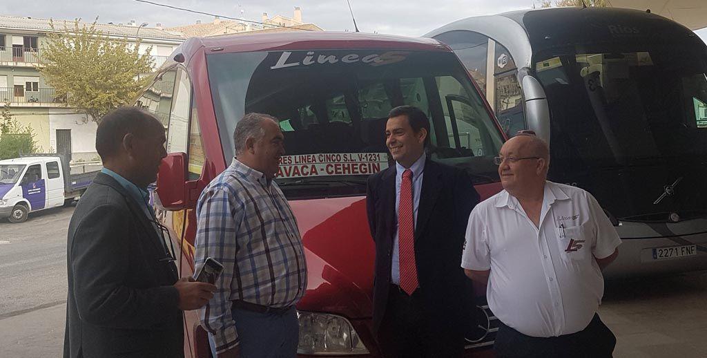La Comunidad garantiza el transporte público en autobús en Caravaca de la Cruz y Cehegín