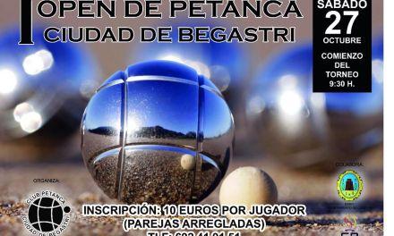 El primer Open de Petanca 'Ciudad de Begastri' se disputa el 27 de octubre