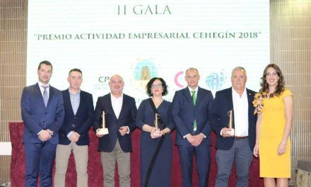Canaraflor, Madrugás y TV Cehegín, protagonistas en la II Gala Actividad Empresarial