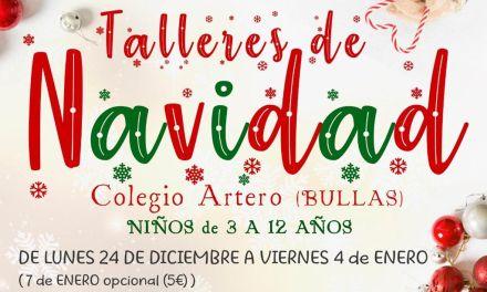 Durante la Navidad los niños de Bullas podrán asistir a los talleres impartidos por Aquabul