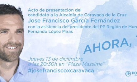 El PP presentará a José Francisco García como candidato a la Alcaldía de Caravaca de la Cruz el 13 de diciembre