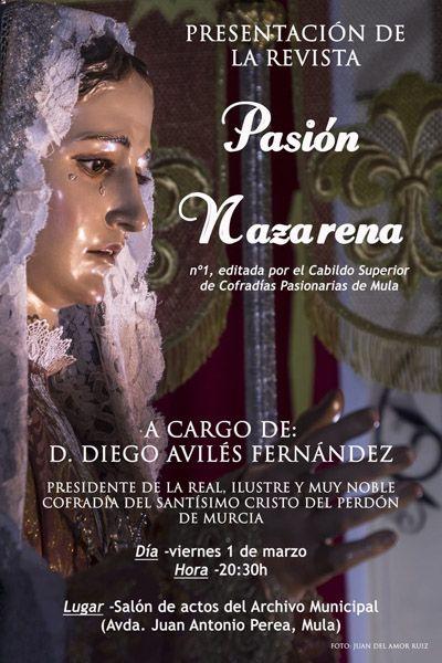 El Cabildo de Cofradías presentará el 1 de marzo el primer número de la revista Pasión Nazarena