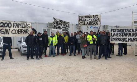 Los empleados de la planta solar de Fuente Librilla continúan con las protestas