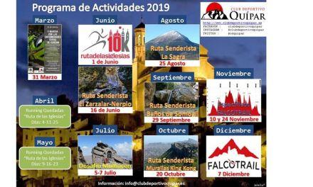 La nueva Junta Directiva del Club Deportivo Quípar anuncia el calendario de actividades para 2019