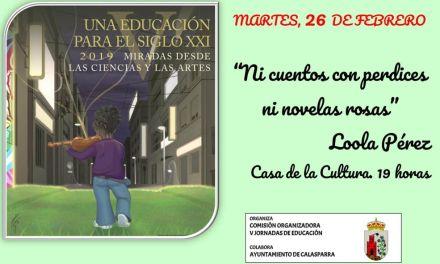 Salvador Martínez Pérez y Loola Pérez, ponentes en Moratalla y Calaspara en el ciclo «Una educación para el siglo XXI»