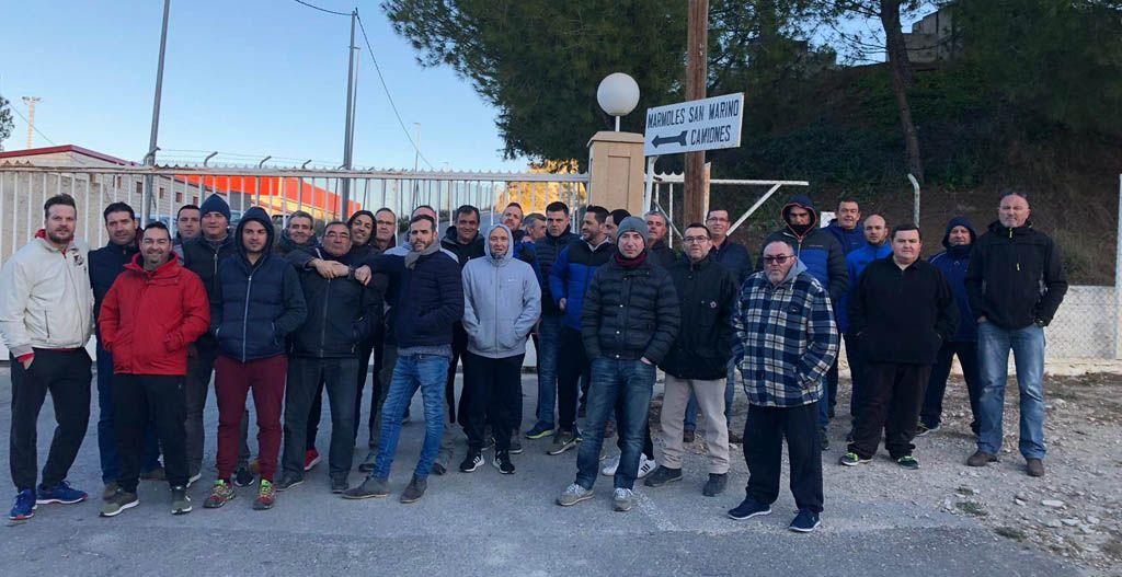 El personal de las empresas del Grupo San Marino en Cehegin siguen en huelga por el impago de sus salarios
