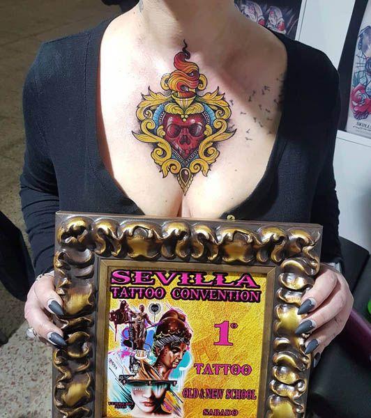 Mariana Pérez Almagro, ganadora de la Sevilla Tattoo Convention