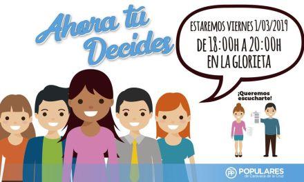 La Glorieta, nuevo destino de la campaña 'Ahora tú decides' del PP de Caravaca de la Cruz