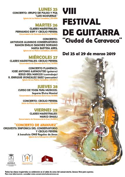 La apertura correrá a cargo del grupo de pulso y púa 'Luis Noguera' en los Carmelitas, mientras que la clausura estará protagonizada por el guitarrista internacional Cecilio Perera y la Orquesta Sinfónica del Conservatorio en La Concepción