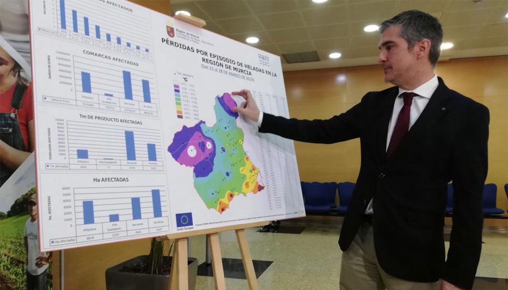 Las últimas heladas en la Región ocasionan unas pérdidas de más de 27,4 millones