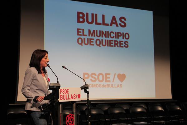 M Dolores Munoz durante la pre sentación de su candidatura