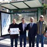 Aqualia cede en Caravaca de la Cruz una marquesina a  la Asociación de familias de personas con discapacidad intelectual del noroeste murciano- APCOM