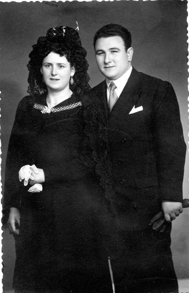 Su boda con Joaquina Carreño