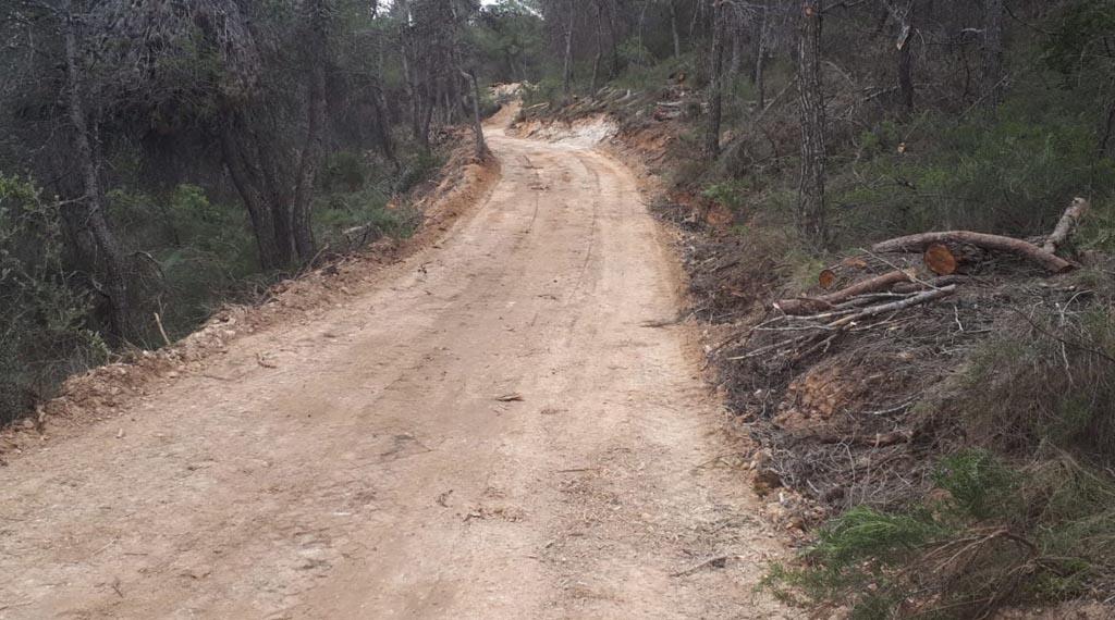 Acondicionan el nuevo camino de acceso a La Almoloya