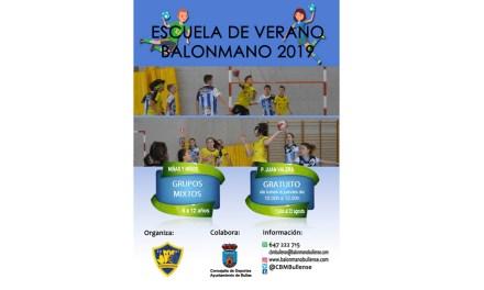 Este verano vuelve la Escuela del Club Balonmano Bullense
