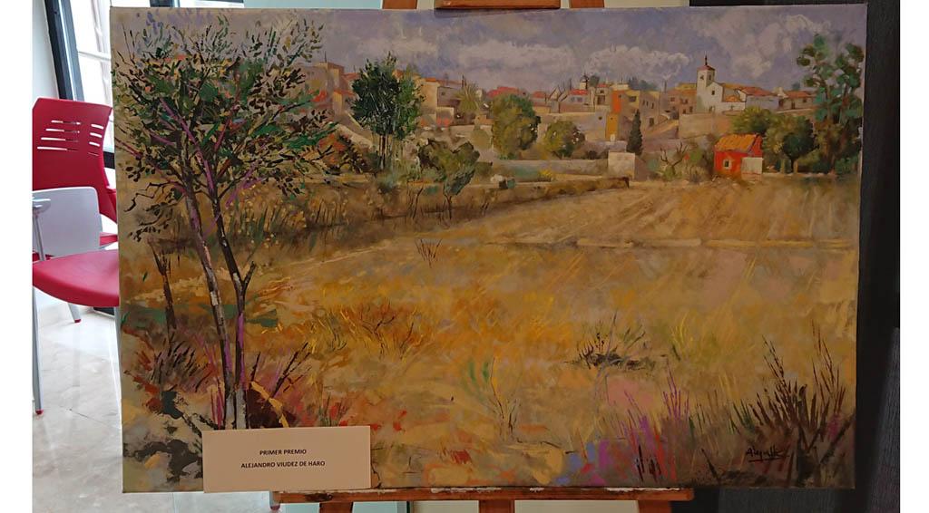 Alejandro Viudez de Haro gana el Concurso de Pintura al Aire Libre de Campos del Río