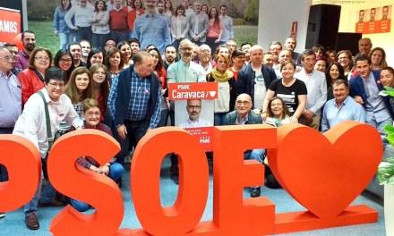 El PSOE de Caravaca inició la campaña con casi un centenar de simpatizantes