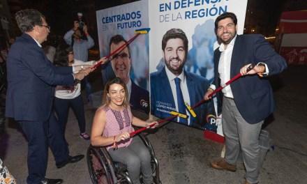 """López Miras: """"Ofrecemos a los murcianos un proyecto en defensa de la Región, por encima de todo"""""""