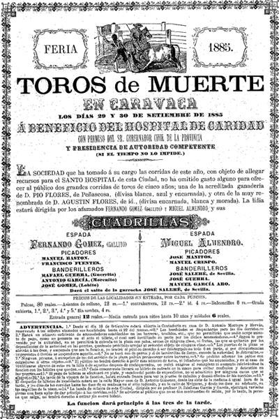 Cartel de la actuación de El Gallo en Caravaca