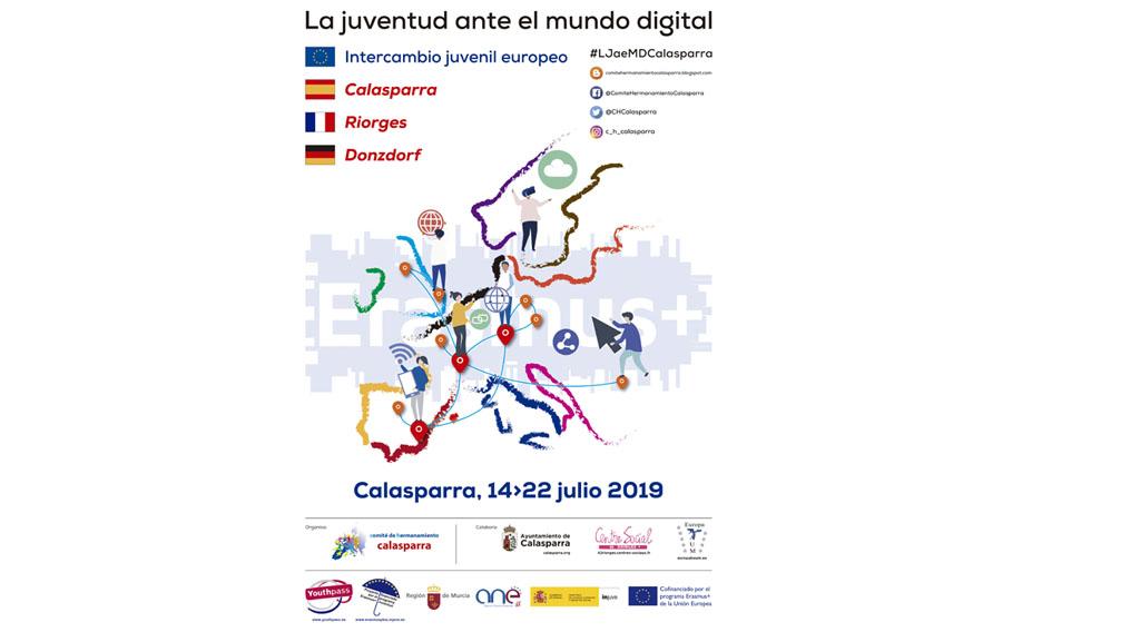 Nuevo intercambio en Calasparra con jóvenes de Donzdorf y Riorges dentro del programa Erasmus +