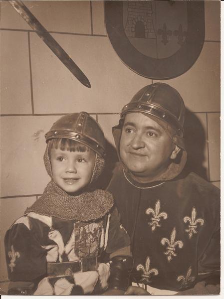 Con su hijo José Ramón