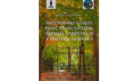 Caralluma necesita material agrícola para su proyecto El Bebior
