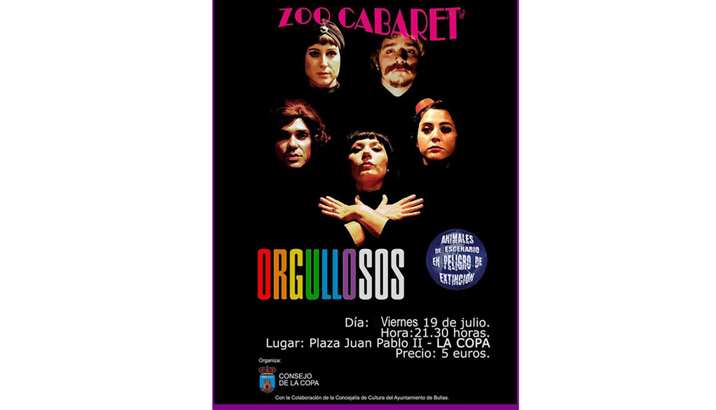 Zoo Cabaret trae su espectáculo 'Orgullosos' a La Copa