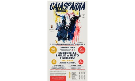 Curro Díaz, Emilio de Justo y Filiberto, en la corrida de los Santos en Calasparra