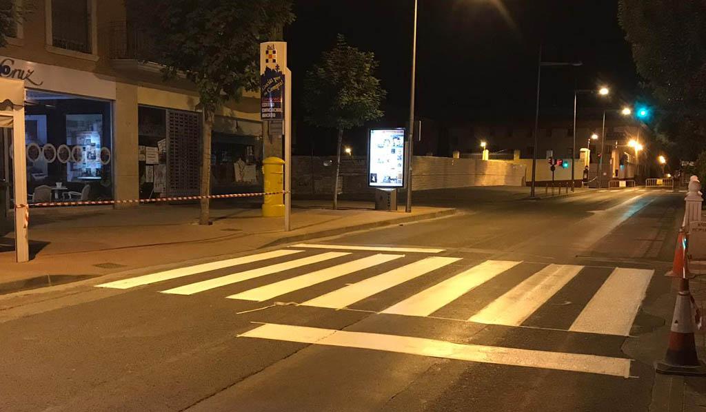 El Ayuntamiento de Caravaca arranca una campaña para mejorar la señalización horizontal del municipio