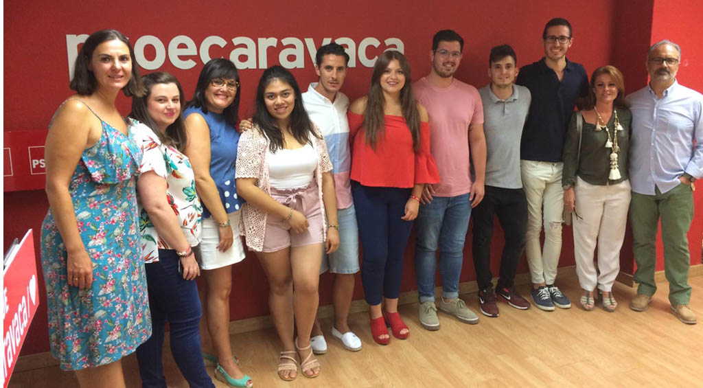 Ana Caballero se marca como reto que Juventudes Socialistas soluciones los problemas e inquietudes de los jóvenes caravaqueños