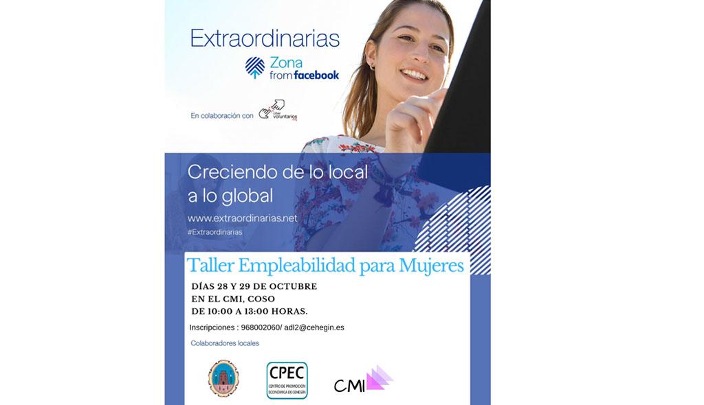 Taller de Empleabilidad para mujeres en Cehegín